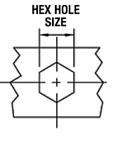 Hex Hole Size