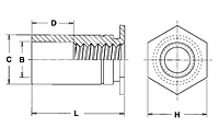 Thru-Hole Threaded Standoffs for Installation into Stainless Steel - Type SO4 2